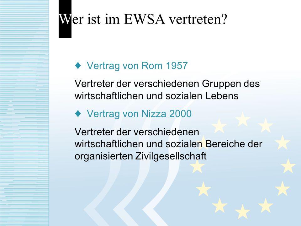 Wer ist im EWSA vertreten