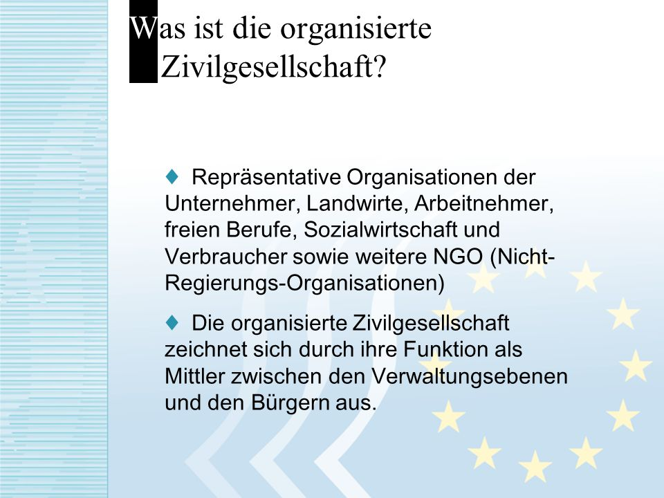 Was ist die organisierte Zivilgesellschaft