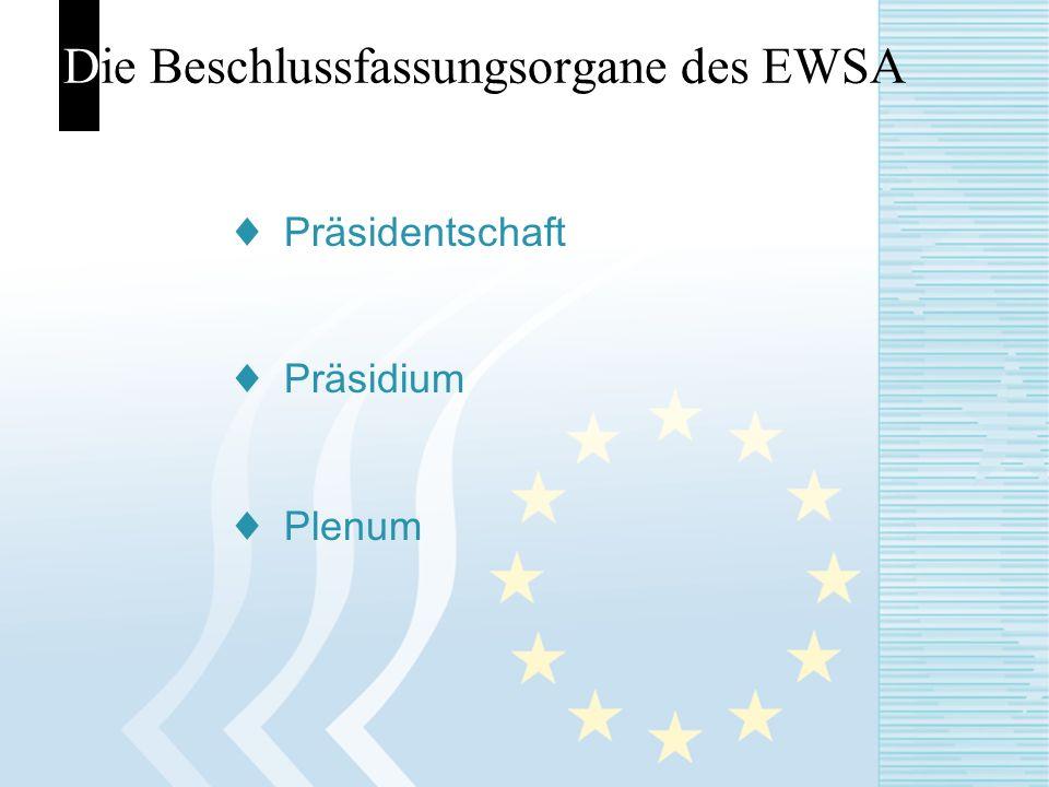 Die Beschlussfassungsorgane des EWSA