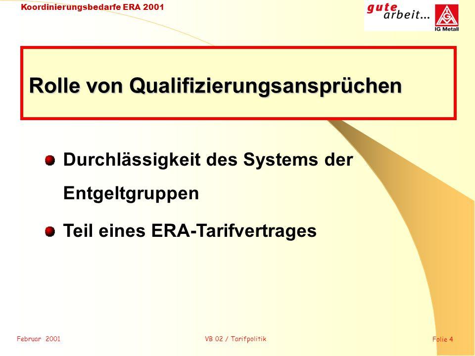 Rolle von Qualifizierungsansprüchen