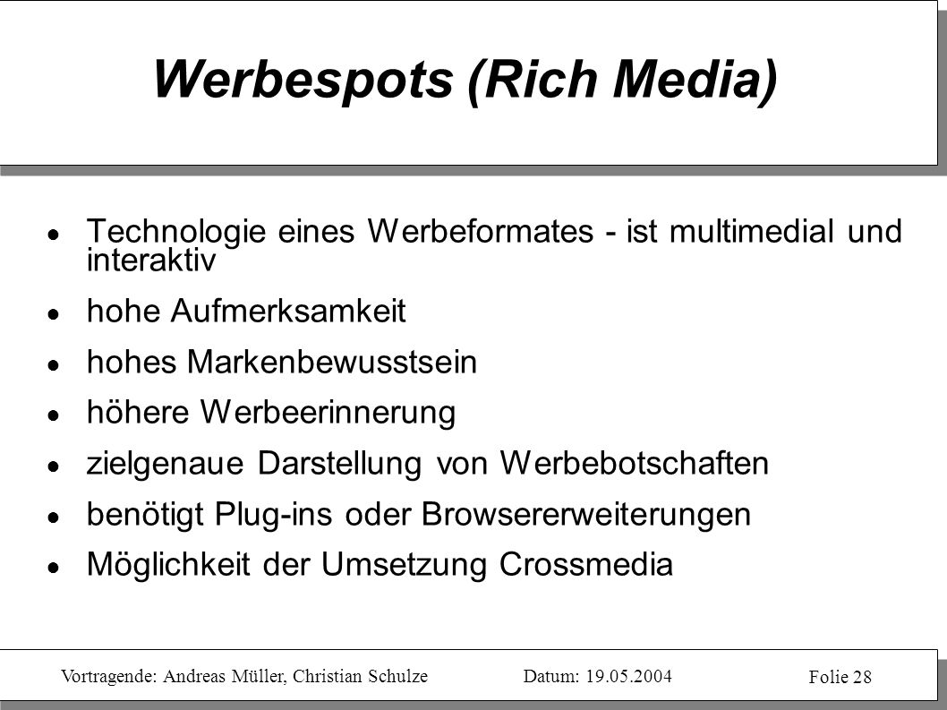 Werbespots (Rich Media)