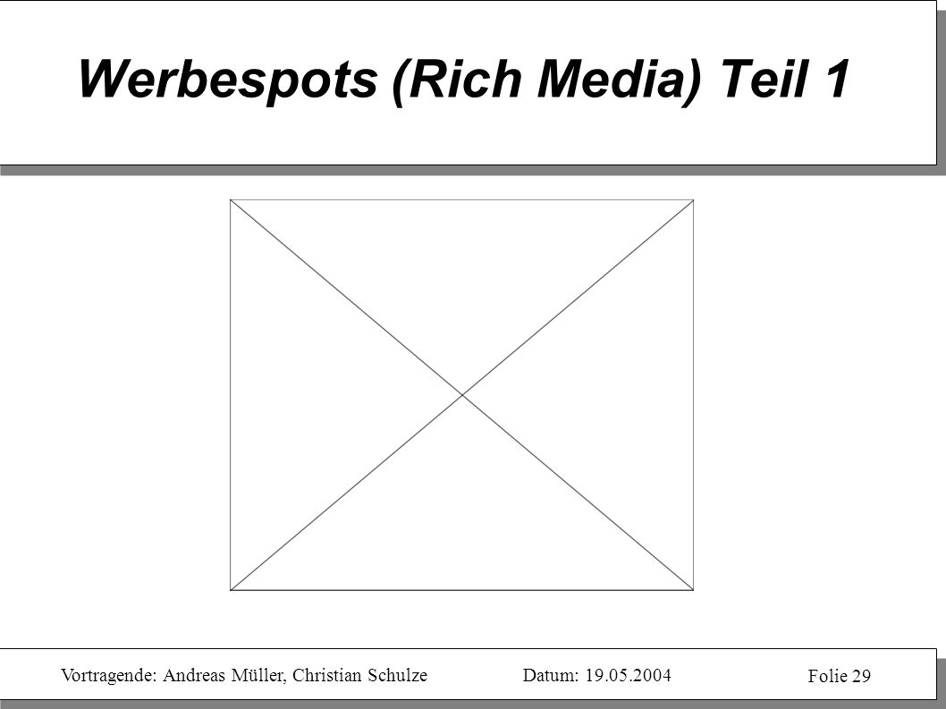 Werbespots (Rich Media) Teil 1