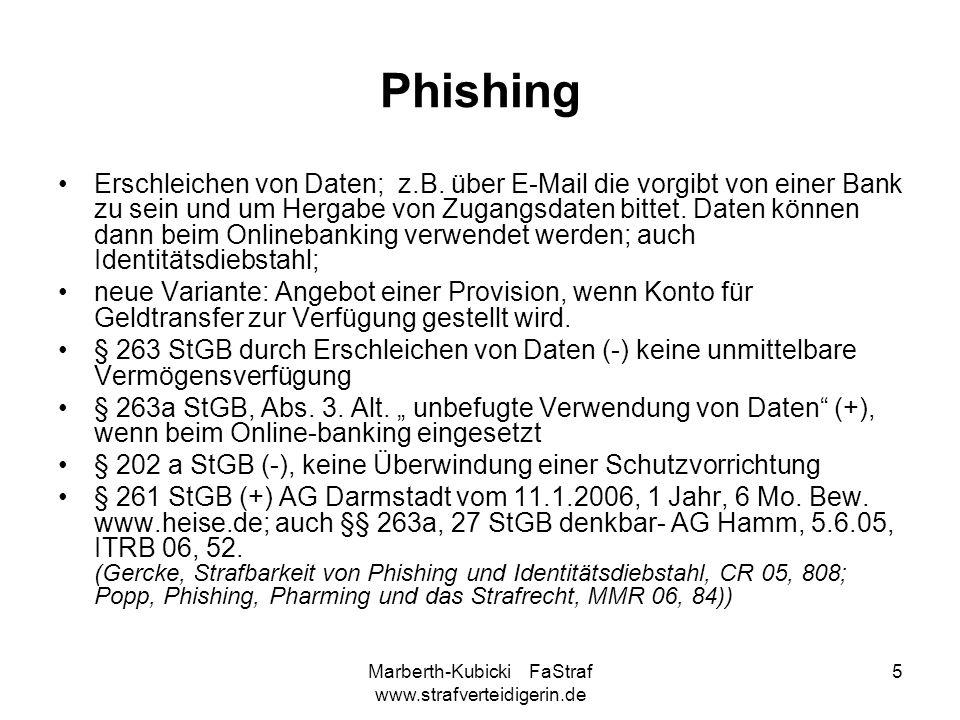Marberth-Kubicki FaStraf www.strafverteidigerin.de