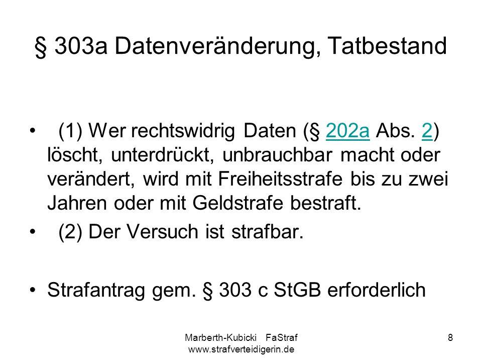 § 303a Datenveränderung, Tatbestand