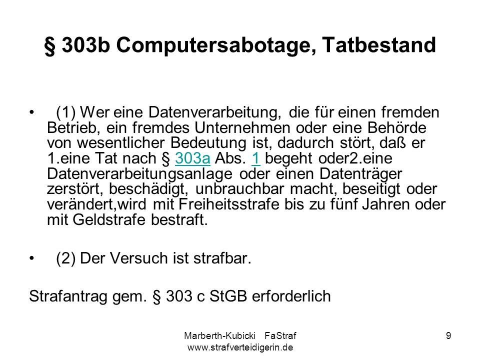 § 303b Computersabotage, Tatbestand