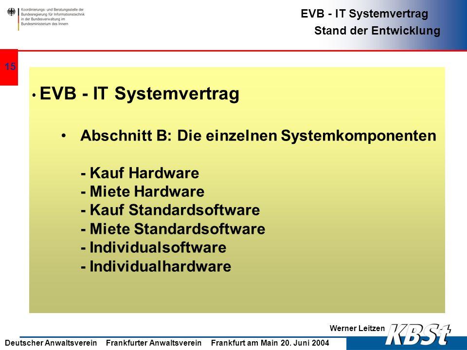 Abschnitt B: Die einzelnen Systemkomponenten - Kauf Hardware