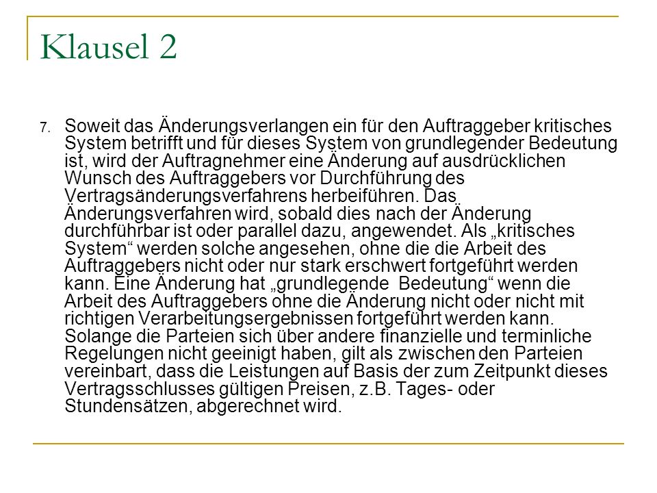 Klausel 2
