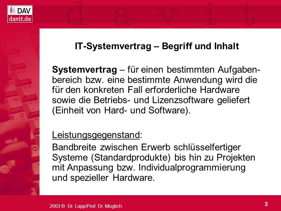 IT-Systemvertrag – Begriff und Inhalt