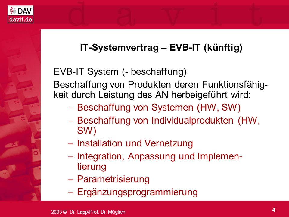IT-Systemvertrag – EVB-IT (künftig)