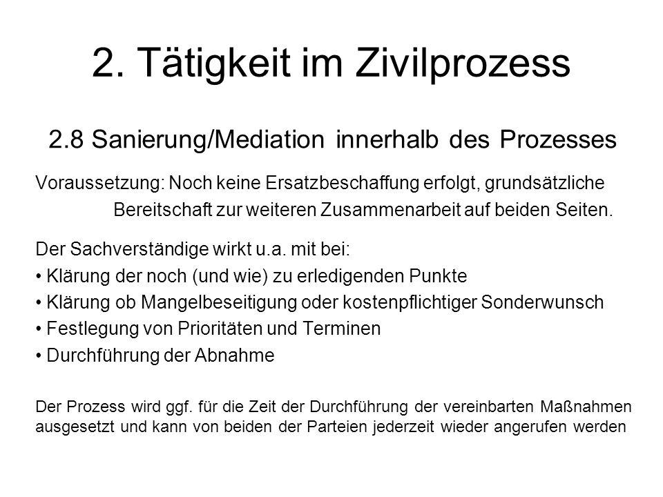 2. Tätigkeit im Zivilprozess