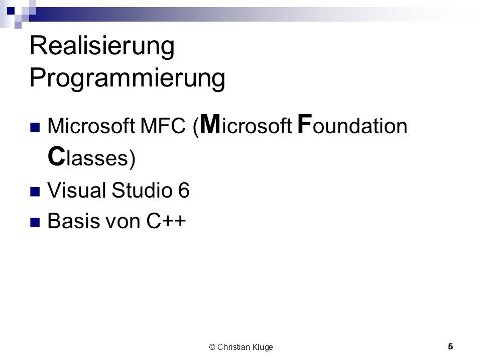 Realisierung Programmierung