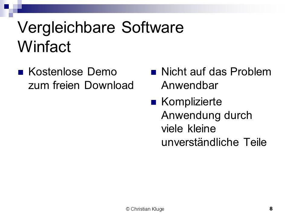 Vergleichbare Software Winfact