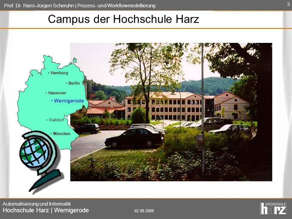 Campus der Hochschule Harz