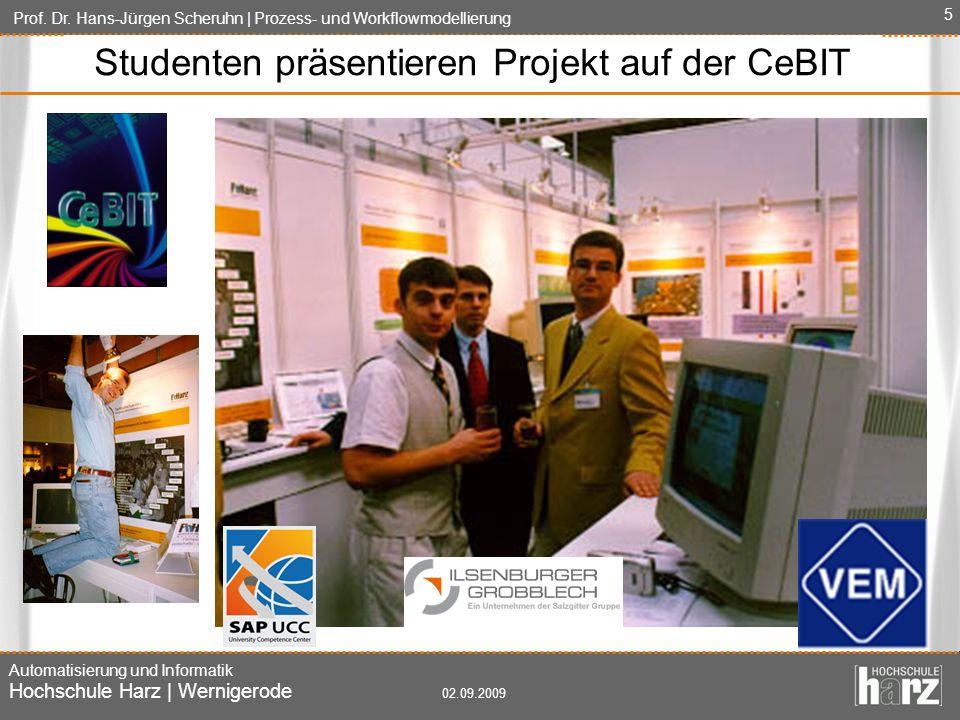 Studenten präsentieren Projekt auf der CeBIT