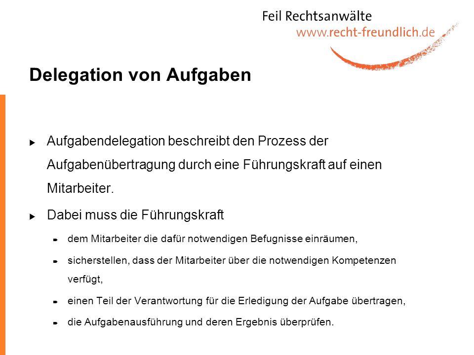 Delegation von Aufgaben