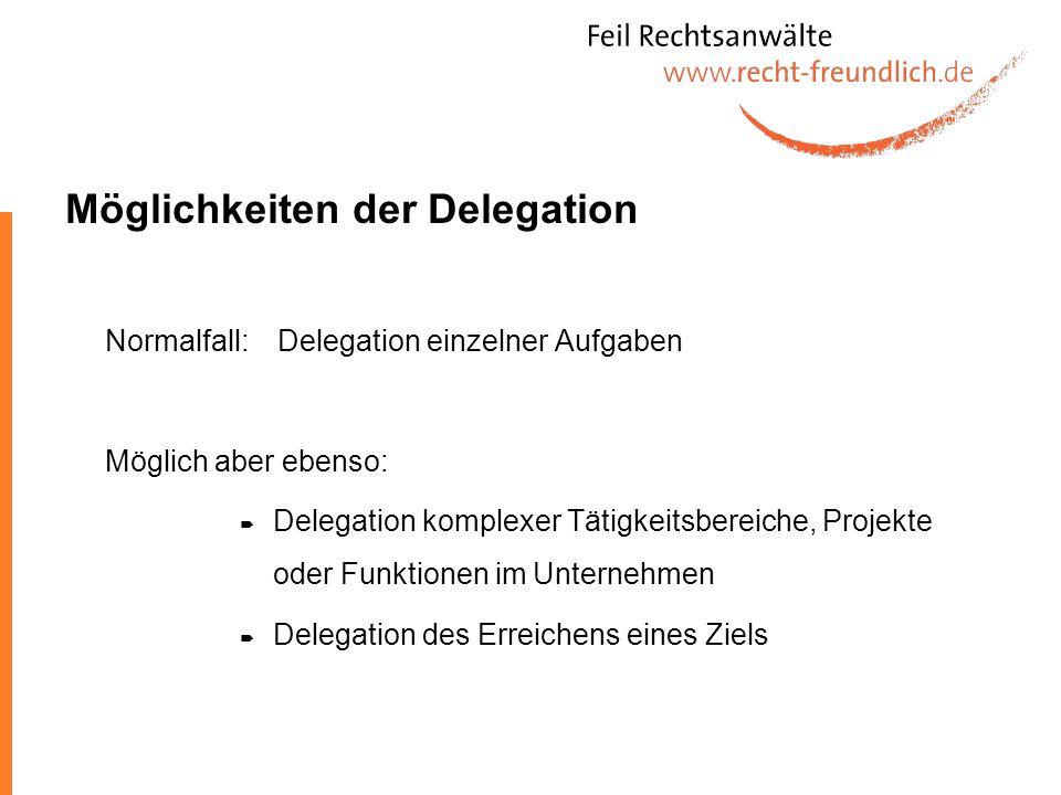 Möglichkeiten der Delegation