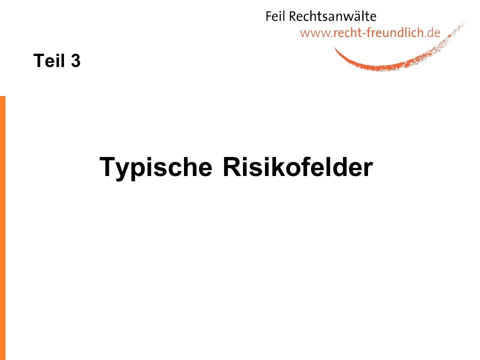 Typische Risikofelder