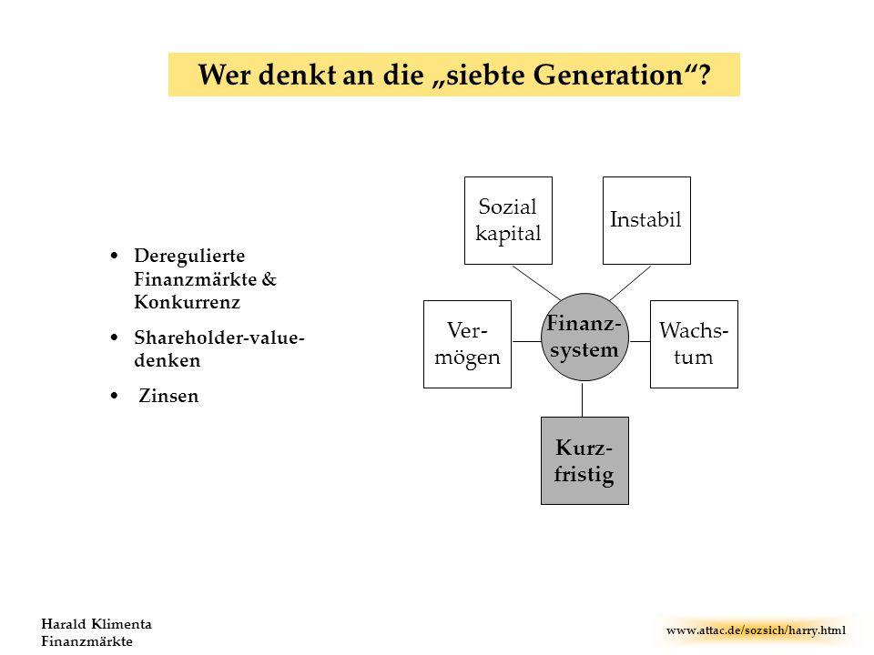 """Wer denkt an die """"siebte Generation"""