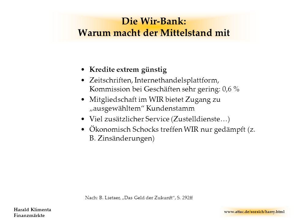Die Wir-Bank: Warum macht der Mittelstand mit