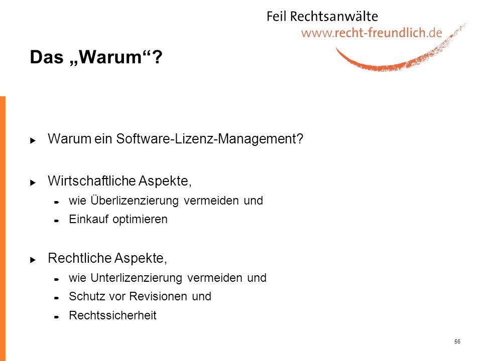 """Das """"Warum Warum ein Software-Lizenz-Management"""