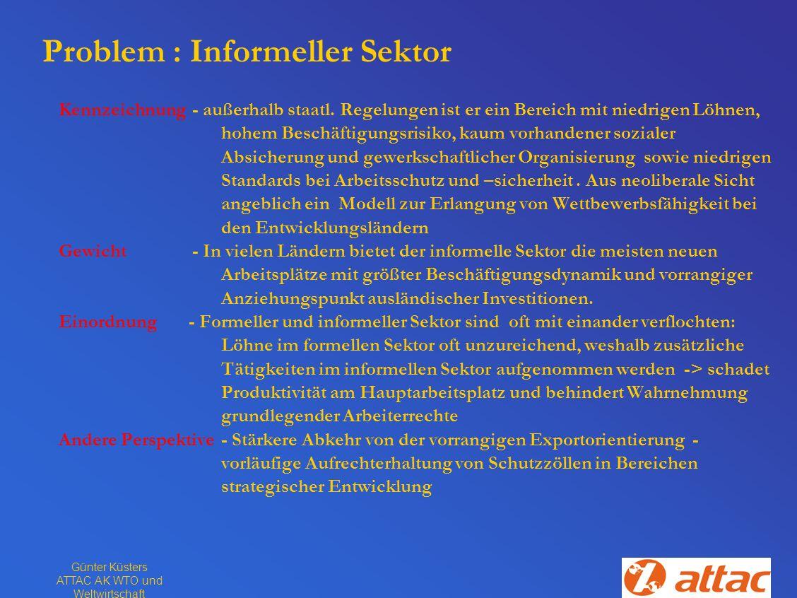Problem : Informeller Sektor