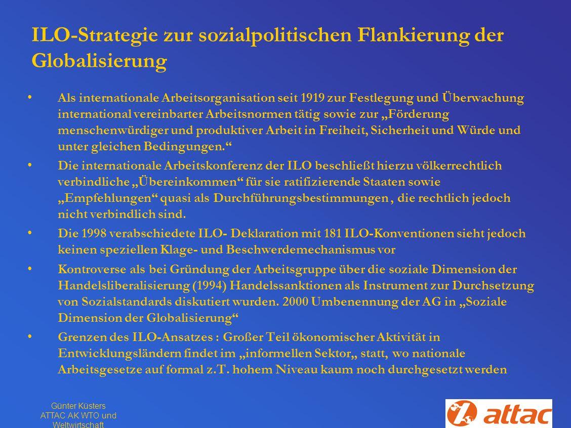 ILO-Strategie zur sozialpolitischen Flankierung der Globalisierung