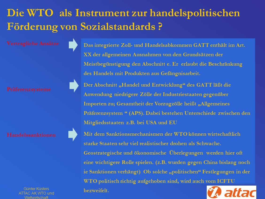 ATTAC AK WTO und Weltwirtschaft