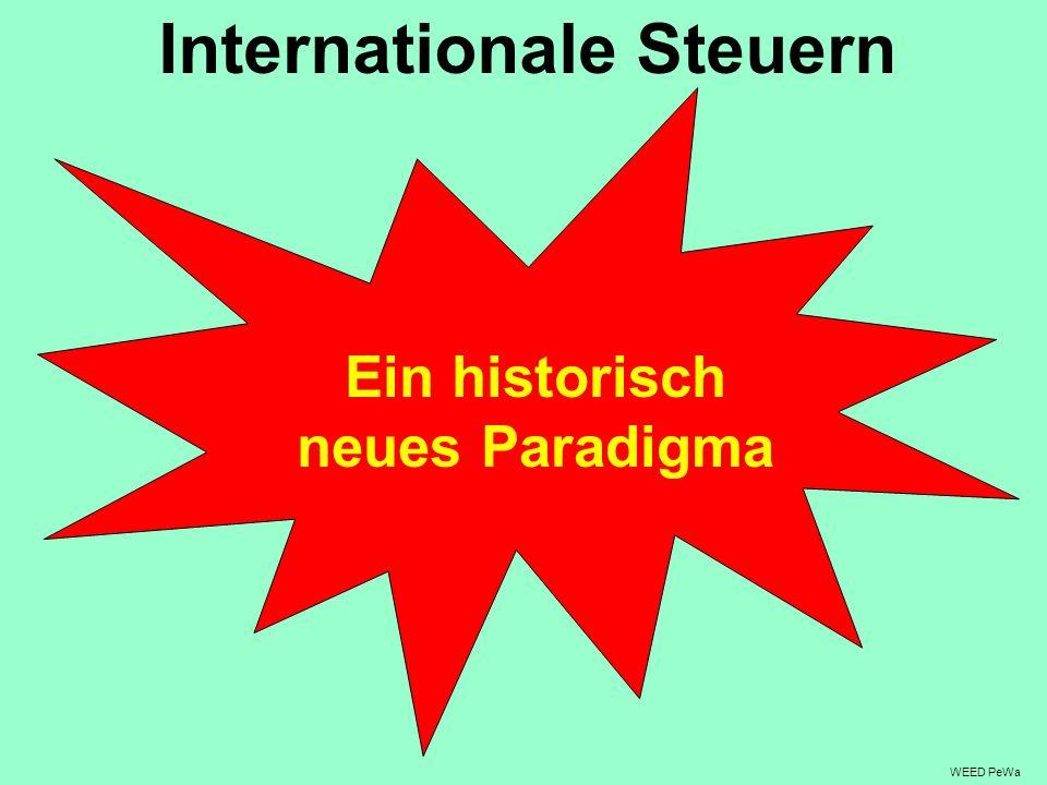 Internationale Steuern Ein historisch neues Paradigma
