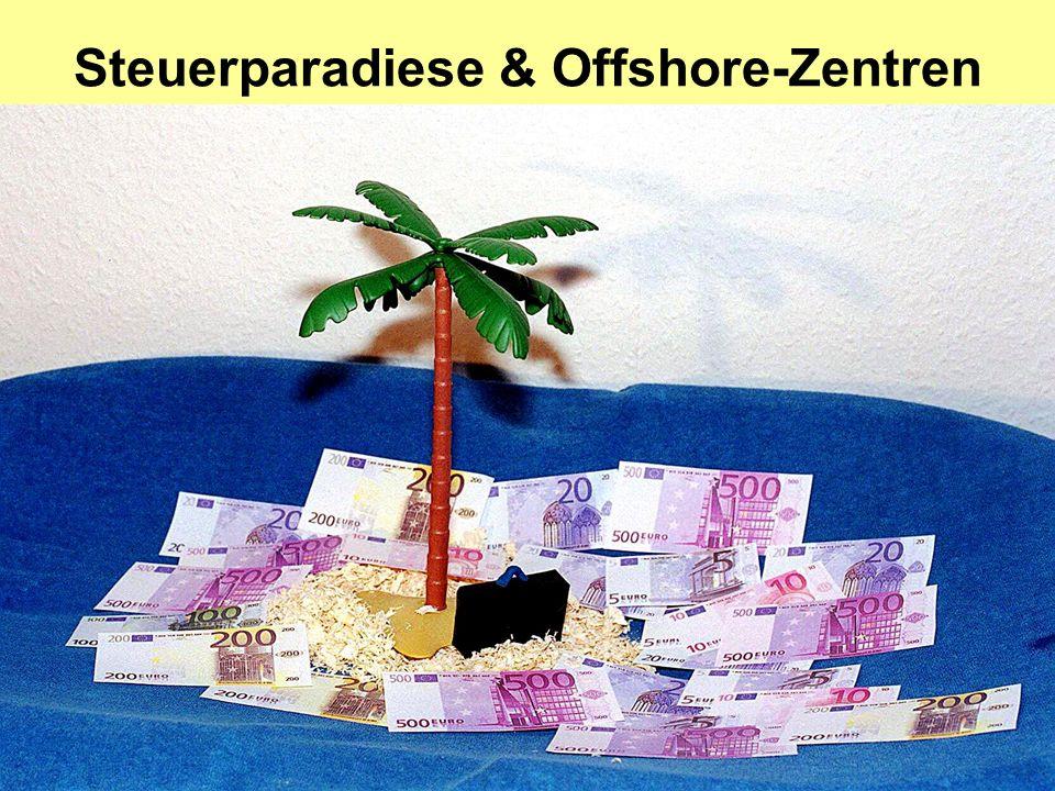 Steuerparadiese & Offshore-Zentren
