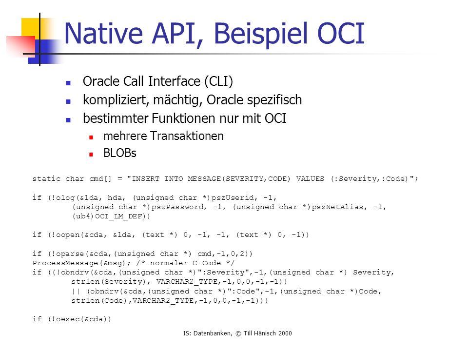 Native API, Beispiel OCI