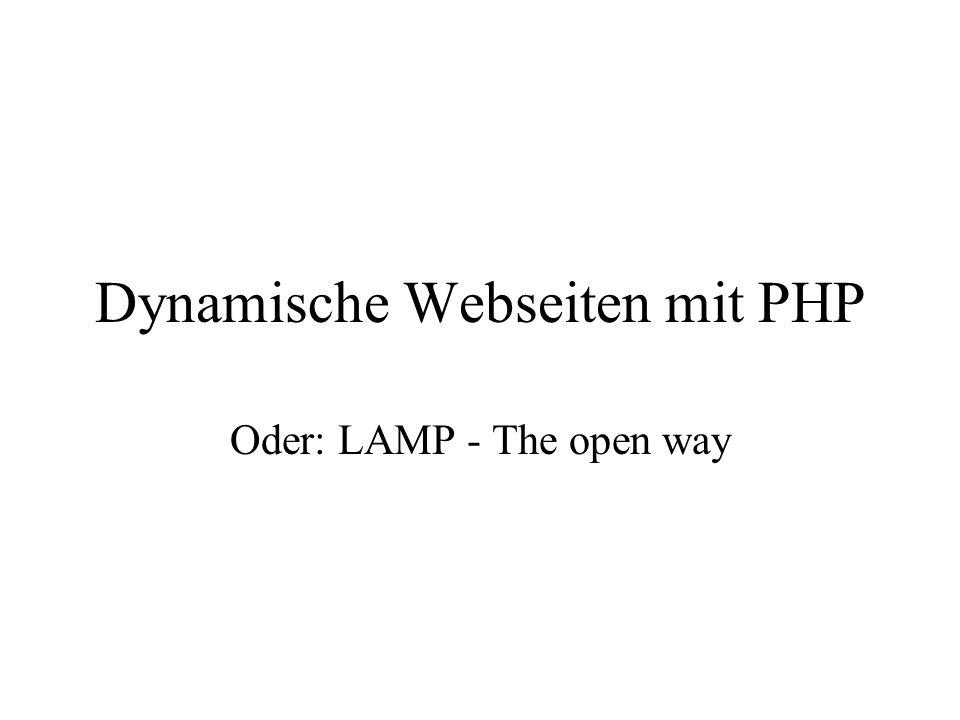 Dynamische Webseiten mit PHP
