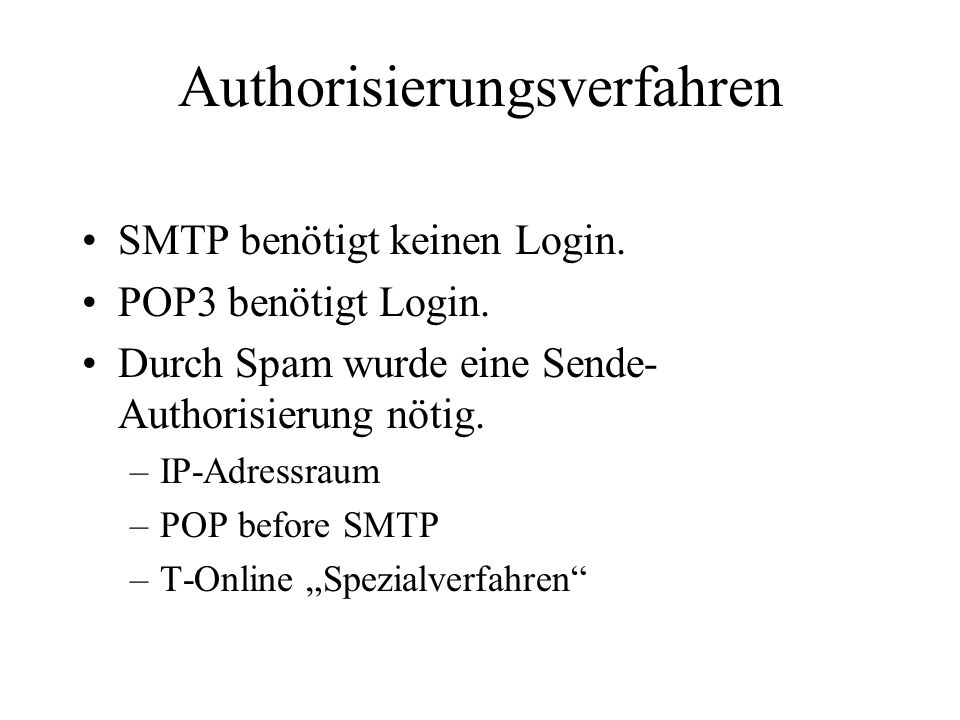 Authorisierungsverfahren