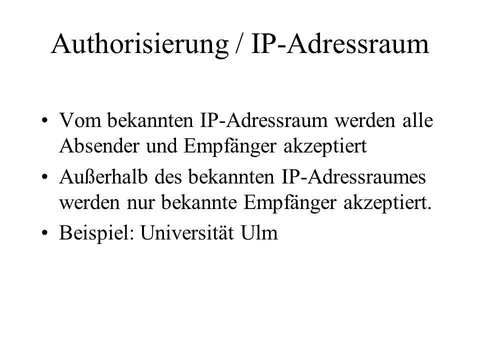 Authorisierung / IP-Adressraum