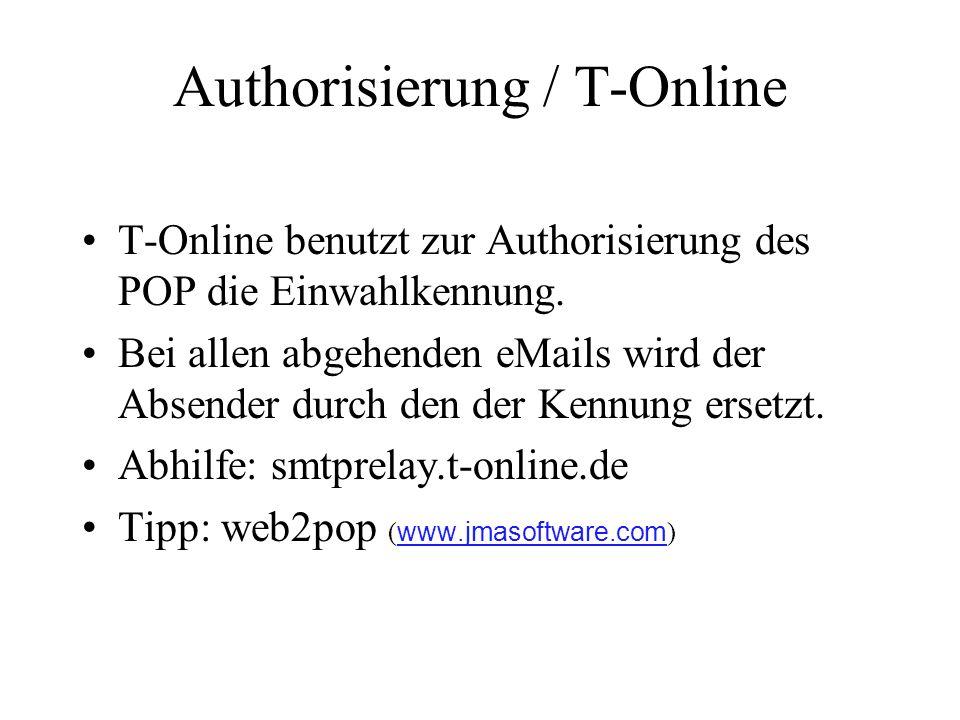 Authorisierung / T-Online
