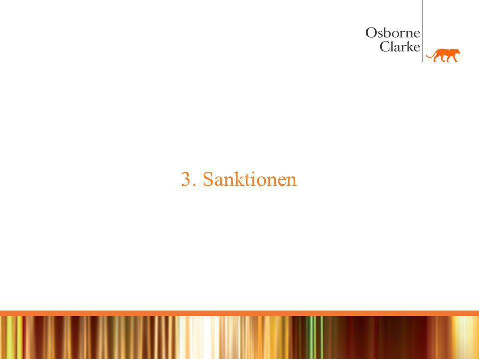 3. Sanktionen