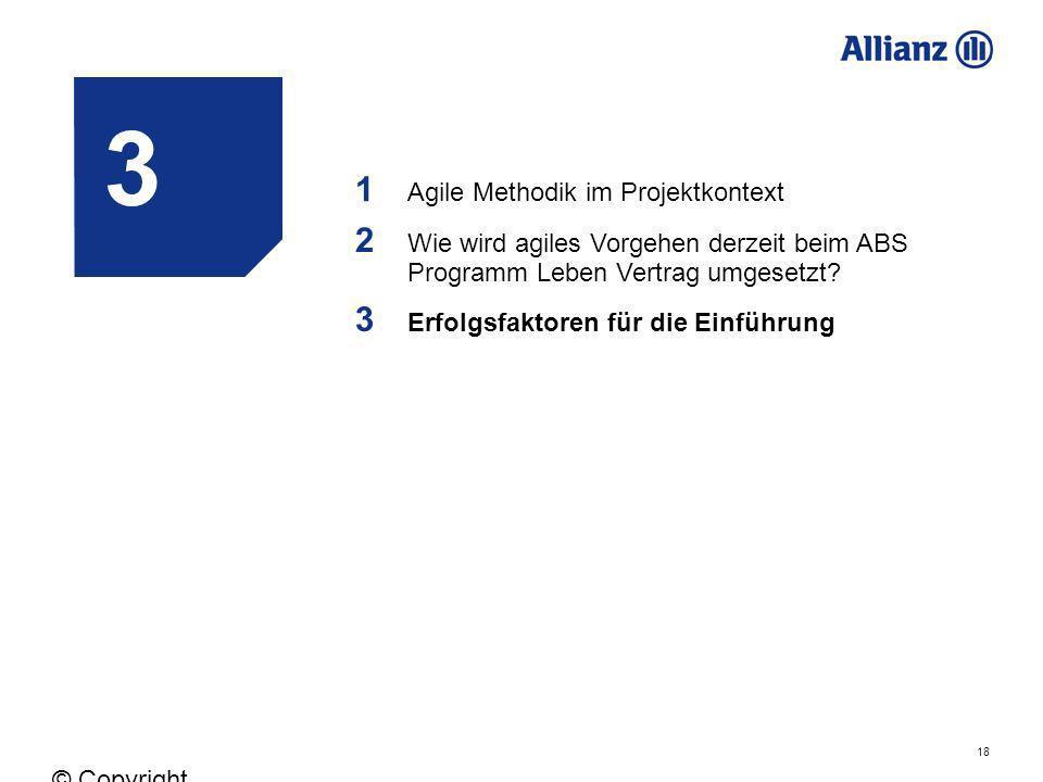 3 1 2 3 Agile Methodik im Projektkontext