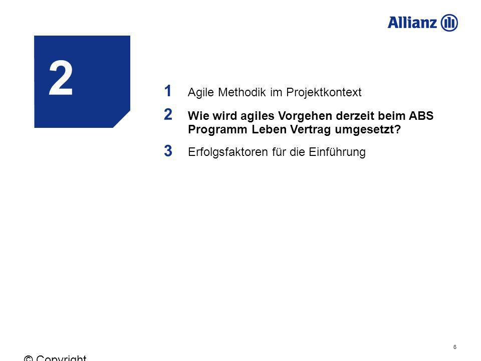 2 1 2 3 Agile Methodik im Projektkontext