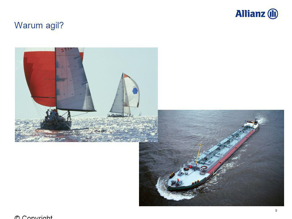 Warum agil © Copyright Allianz 05.03.2012