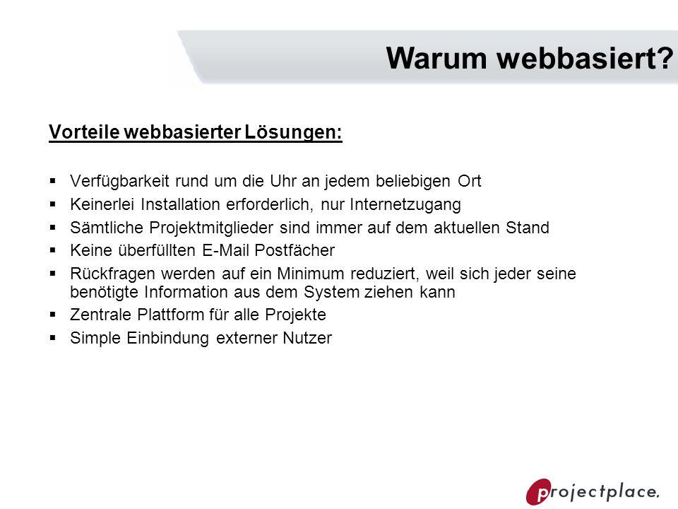 Warum webbasiert Vorteile webbasierter Lösungen: