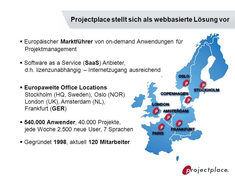 Projectplace stellt sich als webbasierte Lösung vor