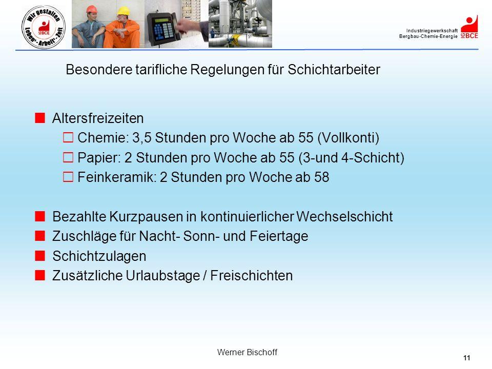 Besondere tarifliche Regelungen für Schichtarbeiter