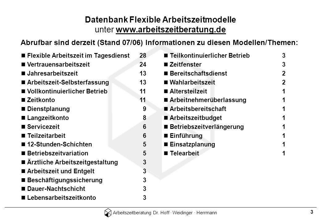 Datenbank Flexible Arbeitszeitmodelle unter www.arbeitszeitberatung.de