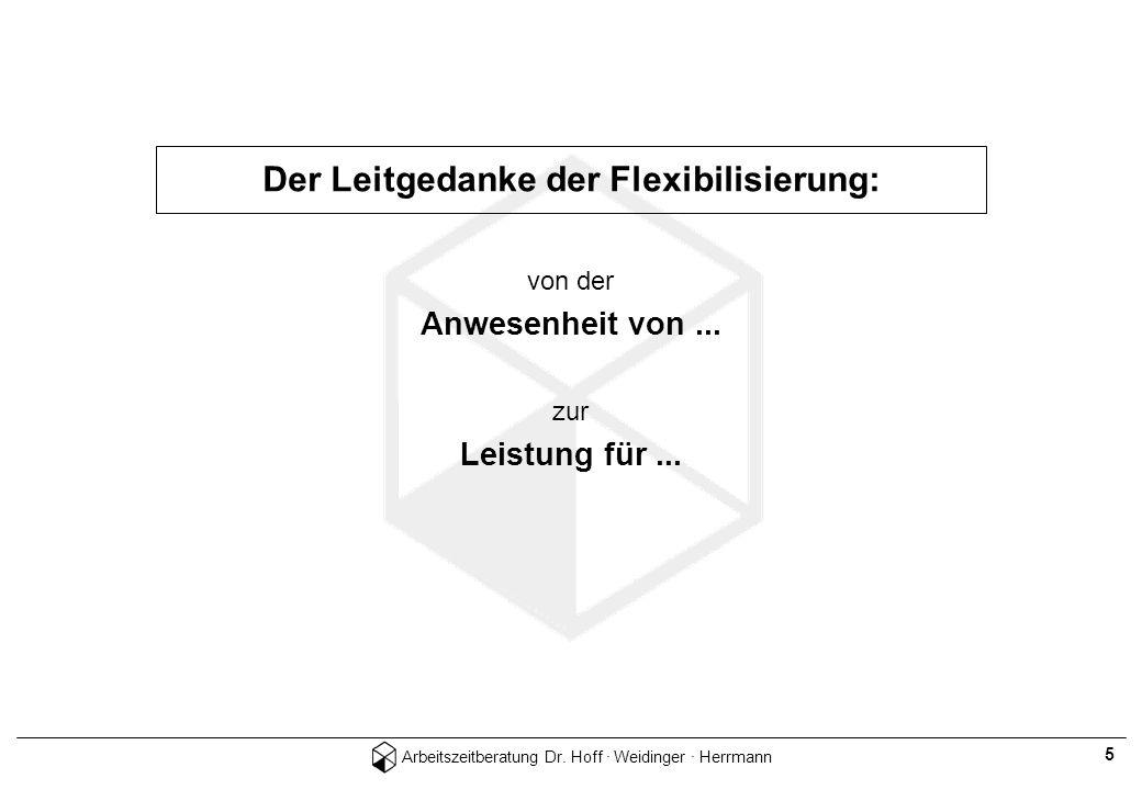 Der Leitgedanke der Flexibilisierung: