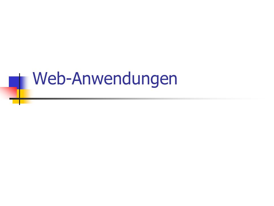 Web-Anwendungen