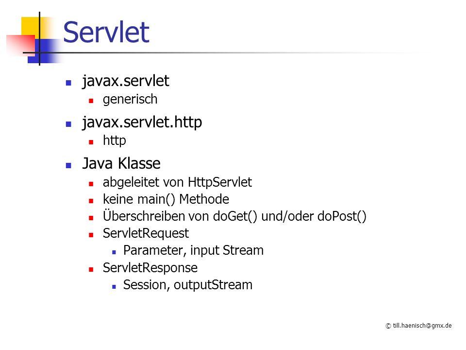 Servlet javax.servlet javax.servlet.http Java Klasse generisch http