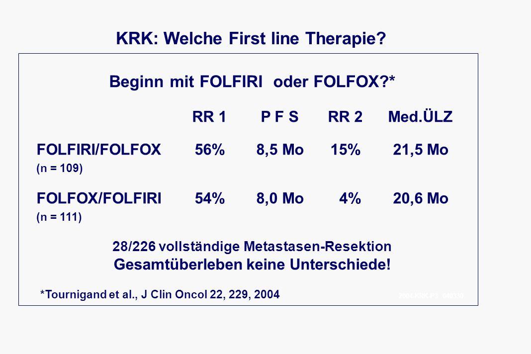KRK: Welche First line Therapie