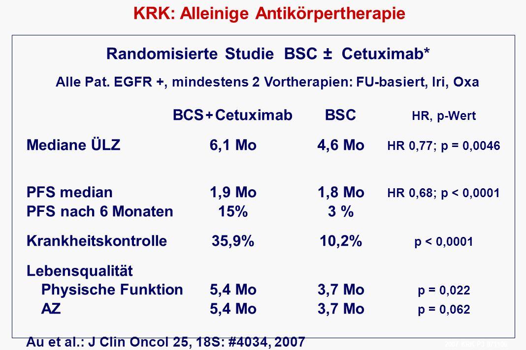 KRK: Alleinige Antikörpertherapie