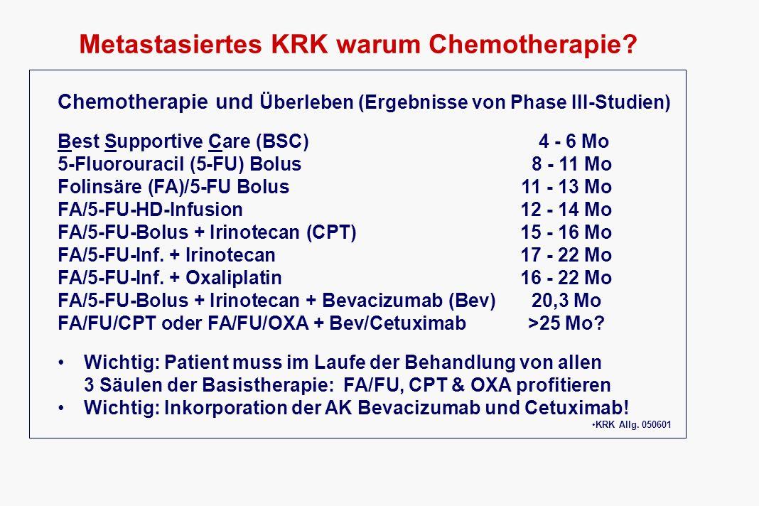 Metastasiertes KRK warum Chemotherapie