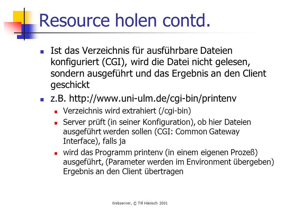 Resource holen contd.