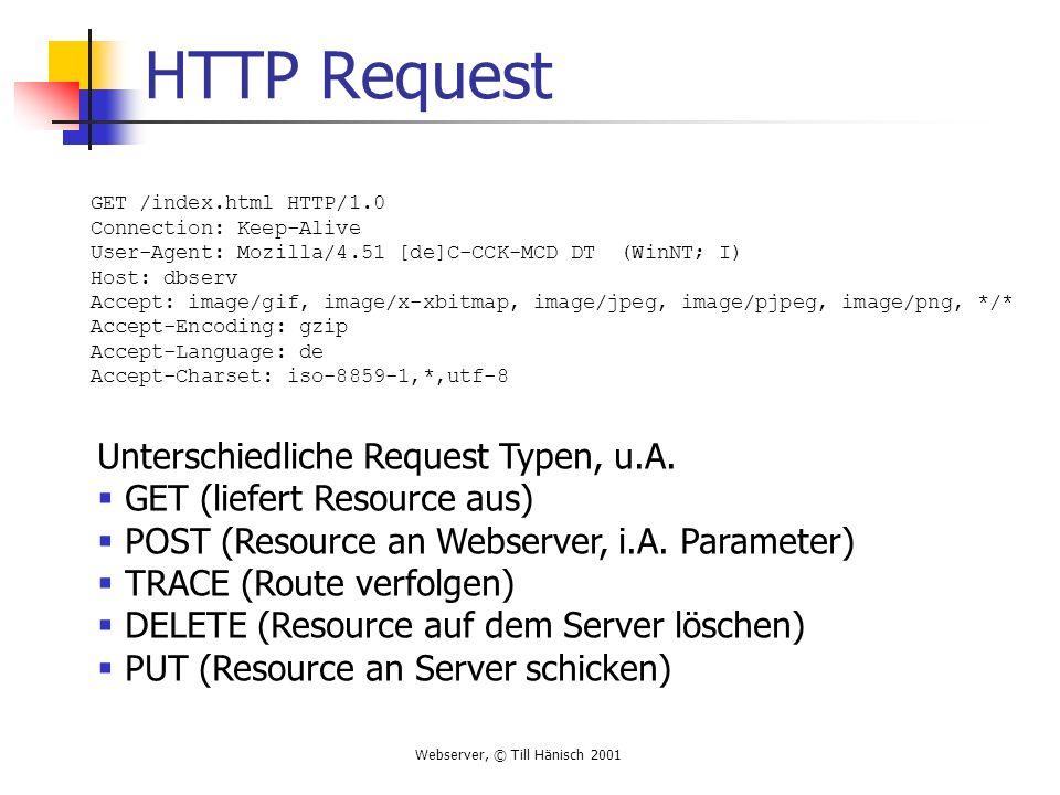 HTTP Request Unterschiedliche Request Typen, u.A.